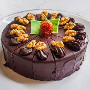 Choco Cream Carrot Walnut Cake