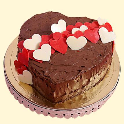 Choco Hearts Designer Love Cake