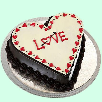 Chocolate Truffle Love Cake