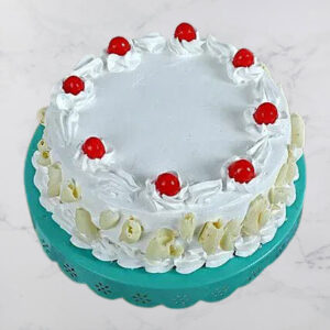 Cream Round Shape White Forest Cake