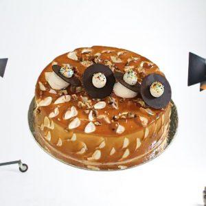 Crunchy Caramel Walnut Cake