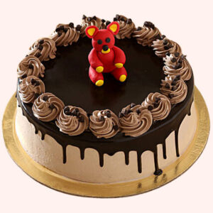 Dripping Design Fondant Chocolate Cake