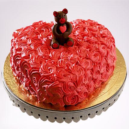 Elegant Roses Semi Fondant Chocolate Cake