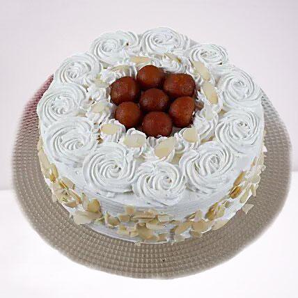 Gulab Jamun Fusion Vanilla Cake