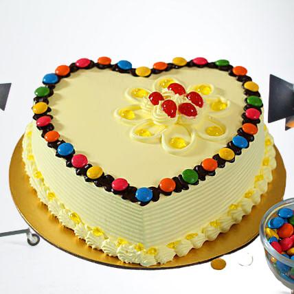 Heart-Shaped-Butterscotch-Cake