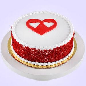 Hearts Love Red Velvet Cake