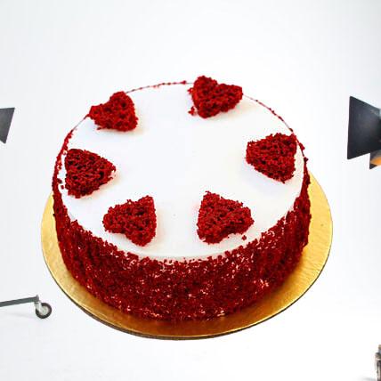 Hearts Red Velvet Cake