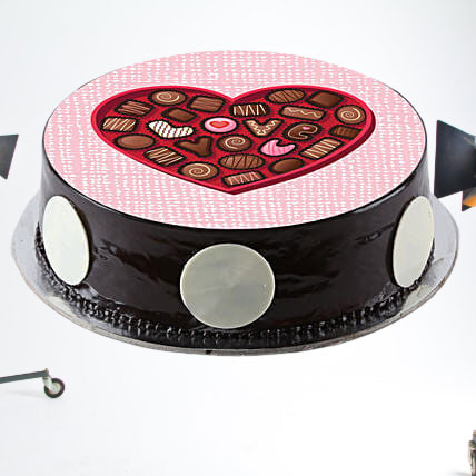 Hearty Truffle Photo Love Cake