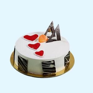 Little Hearts Strawberry Cake