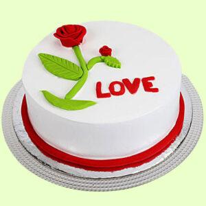 Love Chocolate Red Rose Cake
