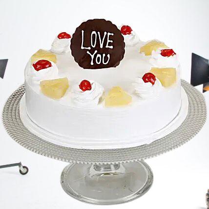 Love You Valentine Pineapple Cake