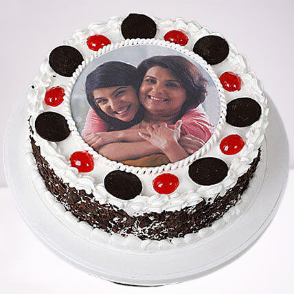 Mothers Day Photo Cake Black Forest