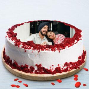 Red Velvet Photo Cake