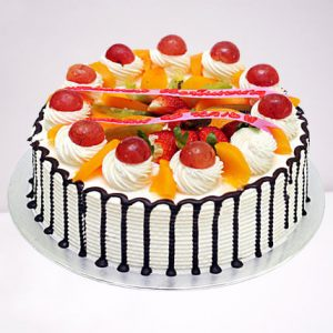 Rich Choco Cream Mixed Fruit Cake