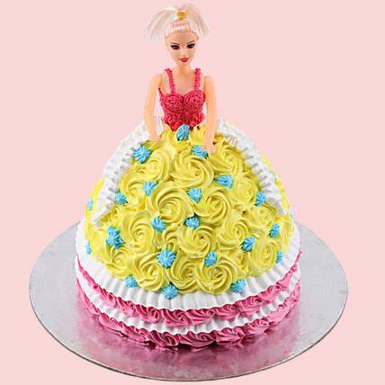 Rosy Vanilla Barbie Cake