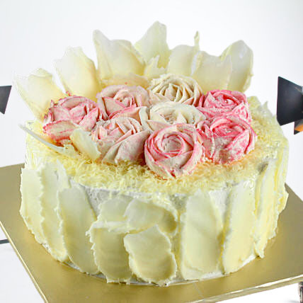 Rosy White Forest Cake