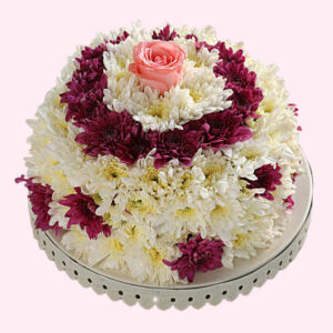 White and Purple Daisy Floral Cake