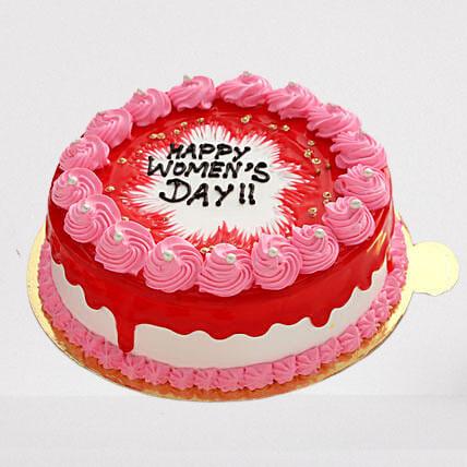 Women Day Celebration Strawberry Cake