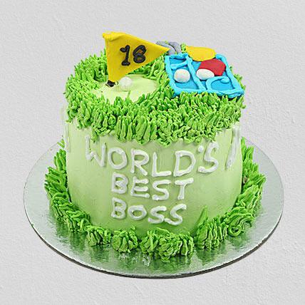 Worlds Best Boss Chocolate Cake