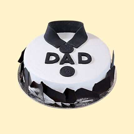 classic fondant dad cake black forest