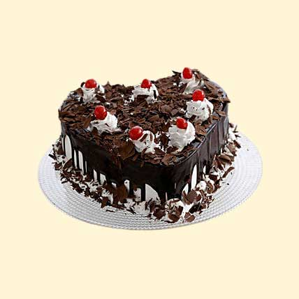 Flakey Hearts Black Forest Cake