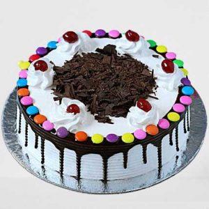 Gems On Top Black Forest Cake