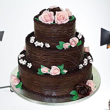 Chocolate Cream 3 Tier Cake