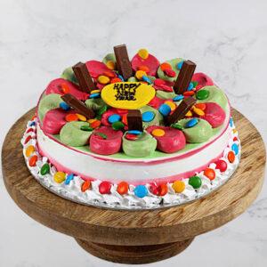 Colourful Chocolate New Year Cake