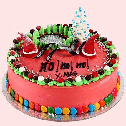 Decorated Chocolate Christmas Cake