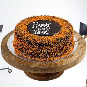 Delicious Chocolate New Year Cake