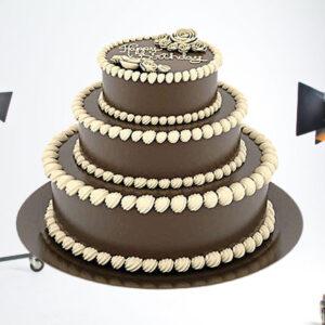 Delicious Truffle 3 Tier Cake