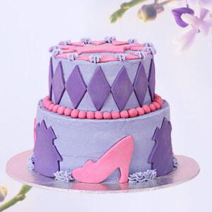 Designer Truffle 2 Tier Cake