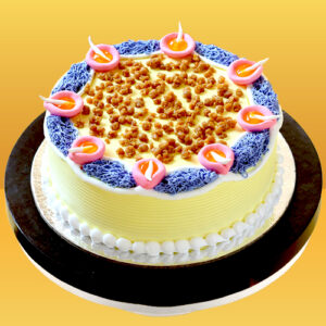 Cake Flavour- Vanilla Type of Cake- Cream Weight- Half Kg Shape- Round Serves- 4-6 People Size- 6 Inches in Diameter
