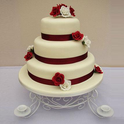 Flowery Truffle Fondant 3 Tier Cake