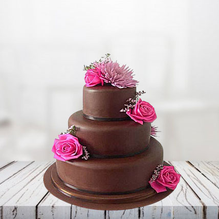 Fondant Truffle 3 Tier Cake