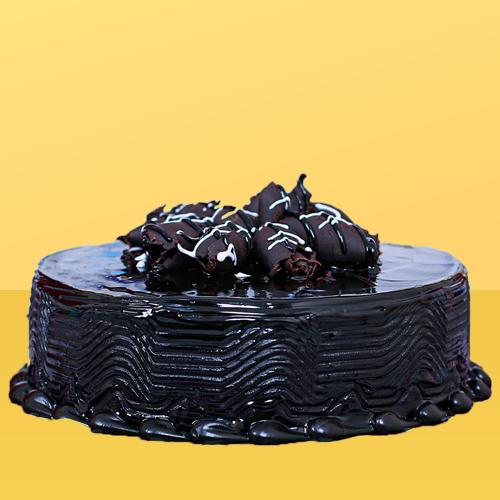Glossy Chocolate Truffle Cake