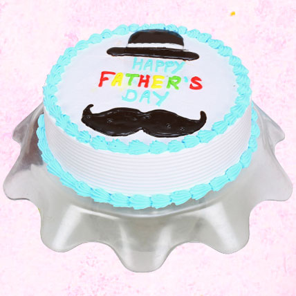 Hat And Moustache Fathers Day Cake