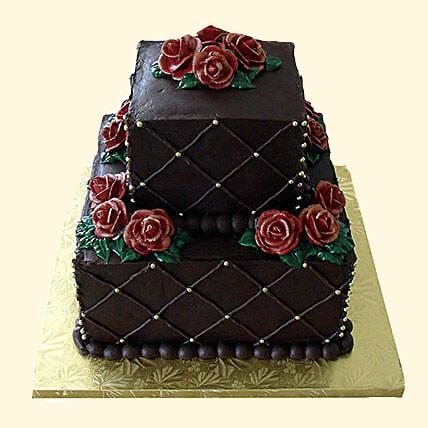 Rose N Truffle 2 Tier Cake