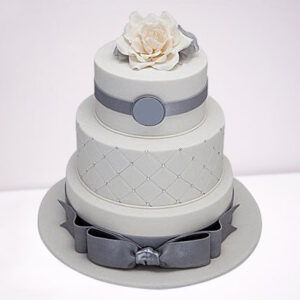 Silver Anniversary Chocolate 3 Tier Cake