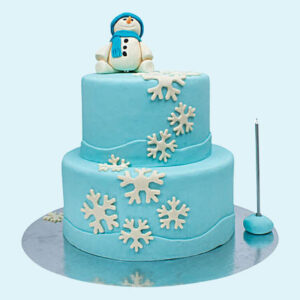 Snowman Truffle 2 Tier Cake