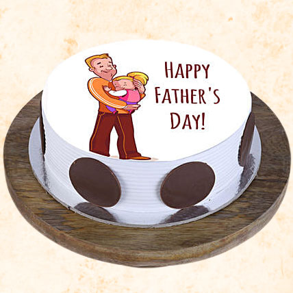 Special Father's Day Photo Cake