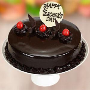 Teachers Day Chocolate Truffle Cake