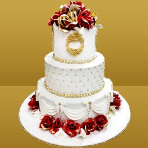 Cake Flavour - Vanilla Type of cake - Fondant Minimum Weight - 7 kg Type of Bread - Vanilla Type of cream - Vanilla Filling in Layers - Vanilla cream Toppings - Fondant