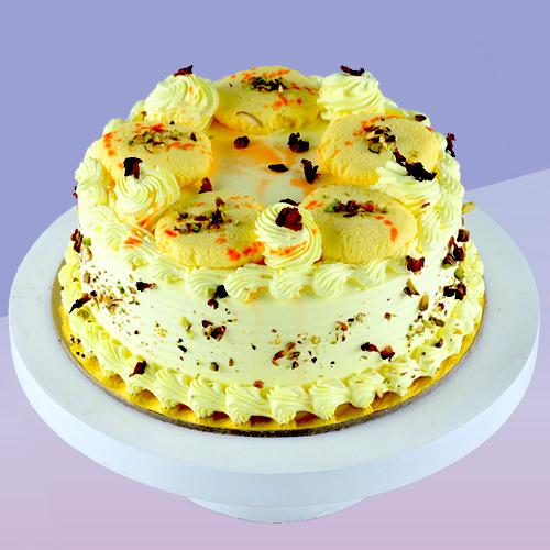 Butterscotch Cake With Rasmalai