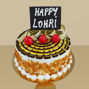 Butterscotch Lohri cake