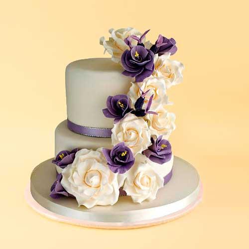 Purple Cascade cake