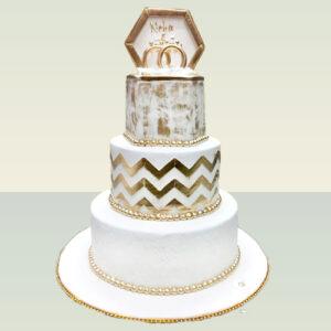 Ring Duo Wedding Cake