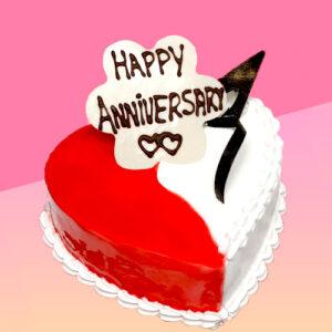 Strawberry Vanilla Anniversary Cake
