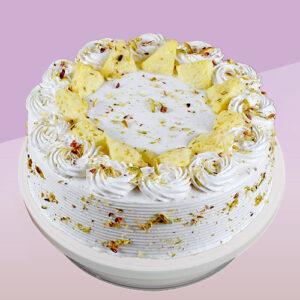 Vanilla Flavored Pista Rasmalai Cake