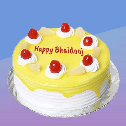Bhai Dooj Pineapple Cake